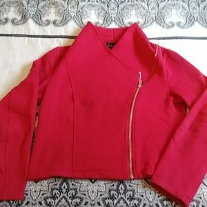 Fitted zip up sweater